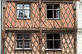Half timbered house in tours loire valley france Stock Image