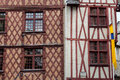 Half timbered house in tours loire valley france Royalty Free Stock Photo