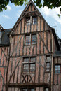 Half timbered house in tours loire valley france Stock Photo
