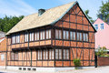 Half timbered house in ystad in southeast of sweden Stock Images