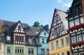 Half timbered houses in cochem germany Royalty Free Stock Photos