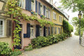 Half timbered houses in frankfurt am main historical buildings and architecture of germany old town hoechst with its Stock Photography