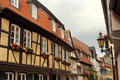 Half timbered houses in frankfurt am main historical buildings and architecture of germany old town hoechst with its Stock Photos
