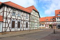 Half-timbered houses in Halberstadt Royalty Free Stock Photo