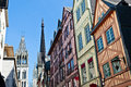 Half-Timbered Houses in Rouen Royalty Free Stock Photography