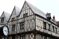 Half-timbered houses in Rue de la Liberté, Dijon, France Royalty Free Stock Photo