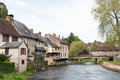 Half timbered houses in Segur-le-Chateau Royalty Free Stock Photo