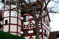 Half timbered houses of south of germany Stock Photos