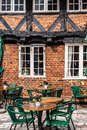 Half timbered traditional house in ribe denmark Royalty Free Stock Photo