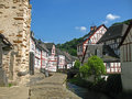 Half timbered village monreal in the eifel in germany Stock Photo
