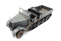 Half track view from the top left model of gray Royalty Free Stock Photos