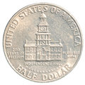 Half US Dollar coin Royalty Free Stock Photo