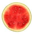 Half Watermelon Royalty Free Stock Photo