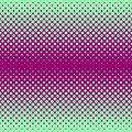 Halftone abstract background in green and compliment colors