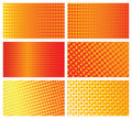 Halftone background cards set Royalty Free Stock Images