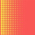 Halftone background pop art style yellow dots color design element for web banners, posters, cards, Wallpaper, backdrops, labels,
