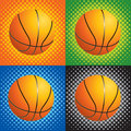 Halftone basketballs Royalty Free Stock Photos