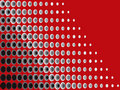Halftone black grey on red Stock Image