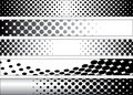 Halftone Black and White Web Banners Royalty Free Stock Image