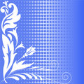 Halftone blue flowers Stock Photography