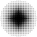 Halftone circle Royalty Free Stock Image