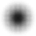 Halftone circles, halftone dots pattern. Monochrome half-tone Royalty Free Stock Photo