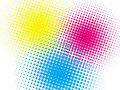 Halftone colorful background Stock Photos