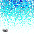 Halftone Colorful Blue Lights Falling Dots pattern on white background, Vector illustration Royalty Free Stock Photo