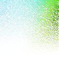 Halftone Colorful Lights Falling Dots pattern on white background, Vector illustration Royalty Free Stock Photo