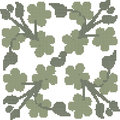 Halftone colorful seamless retro pattern cross clover green leaf