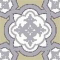 Halftone colorful seamless retro pattern curve cross frame flowe Royalty Free Stock Photo
