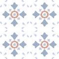 Halftone colorful seamless retro pattern light elegant flower Royalty Free Stock Photo