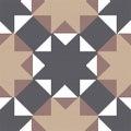 Halftone colorful seamless retro pattern octagon star cross tria Royalty Free Stock Photo