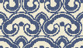 Halftone colorful seamless retro pattern oriental curve cross ro Royalty Free Stock Photo