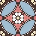Halftone colorful seamless retro pattern round cross frame flowe Royalty Free Stock Photo