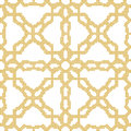 Halftone colorful seamless retro pattern yellow cross flower geo Royalty Free Stock Photo