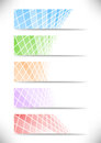 Halftone communicational headers or cards collecti collection clip art Stock Photography