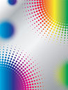 Halftone design with rainbow Royalty Free Stock Image