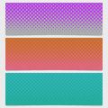 Halftone dot pattern banner template - vector graphic from circles in varying sizes