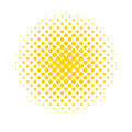 Halftone dots. Colored, abstract background in Pop Art style