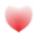 Halftone dots heart Royalty Free Stock Photography