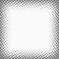 Halftone dots. Monochrome vector texture background for prepress, DTP, comics, poster. Pop art style template Royalty Free Stock Photo