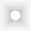 Halftone dotted background. Halftone effect vector pattern. Circle dots isolated on the white background. Royalty Free Stock Photo