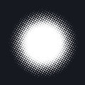 Halftone dotted vector abstract background, dot pattern in circle shape. Royalty Free Stock Photo