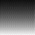 Halftone fade gradient background. Black and white comic backdrop. Monochrome points vector