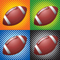 Halftone footballs Stock Photography