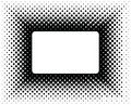 Halftone frame Royalty Free Stock Photography