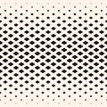 Halftone geometric pattern, diamond shapes, crystals, rhombuses