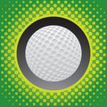Halftone golf ball icon Royalty Free Stock Image