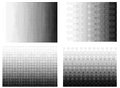 Halftone gradient set Half tone gradient Royalty Free Stock Photo